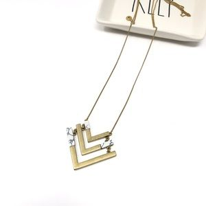Madewell Arrow Arrowstack Chevron Necklace